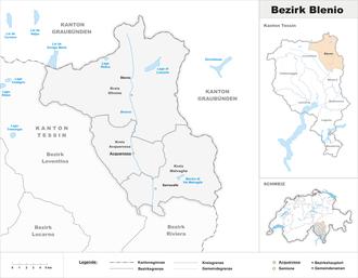 Blenio District - Image: Karte Bezirk Blenio 2012