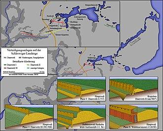 Danevirke - Image: Karte Danewerk