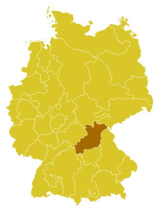 Roman Catholic Archdiocese of Bamberg - Image: Karte Erzbistum Bamberg