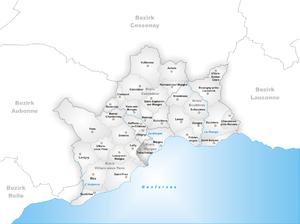 Tolochenaz - Image: Karte Gemeinde Tolochenaz