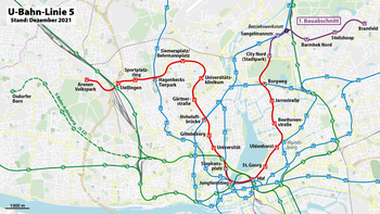 Hvv Karte Verloren.U Bahn Linie 5 Hamburg Wikipedia
