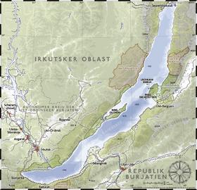 Карта озера байкал академический