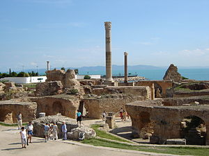Tunis - Ruins of the Baths of Antoninus in Carthage