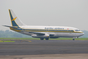 Kartika Airlines - A Kartika Airlines Boeing 737-200 Advanced at Polonia International Airport. (2006)