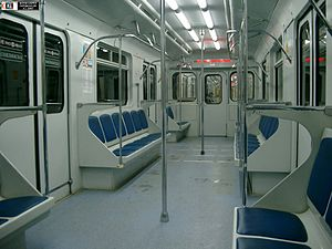 Kazan Metro - The interior of Kazan metro car