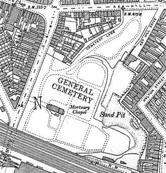 Key Hill Cemetery - 1903 Ordnance Survey map