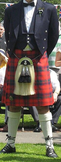 5bd36b00cee99 The modern Scottish kilt worn with formal evening wear (2009)