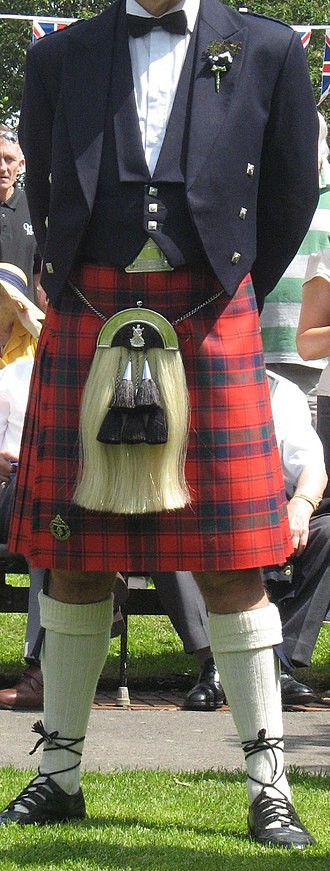 Kilt - The modern Scottish kilt worn with formal evening wear (2009)