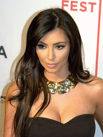 Image result for Kim Kardashian dark hair