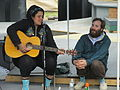 Kimya Dawson and Paul Baribeau share a laugh.JPG