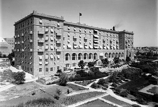 King David Hotel from garden side. 1934-1939
