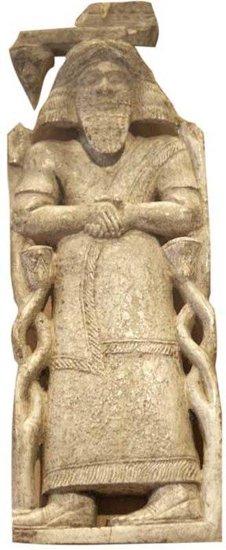 Hazael - Ivory inlay possibly depicting Hazael of Damascus