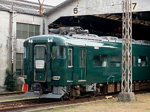 Kintetsu 15400 series - 15400 series set undergoing repainting, November 2011
