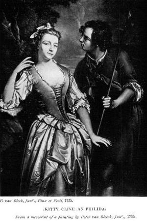Peter van Bleeck - Kitty Clive in her role as Philida, 1735, by Peter van Bleeck