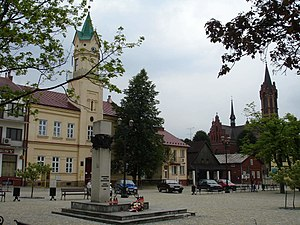 2010 in Poland - Town square of Kołaczyce