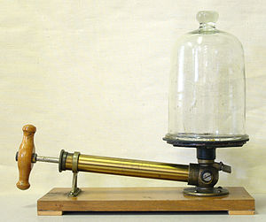 Air pump to demonstrate vacuum