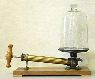 Vacuum - Pump to demonstrate vacuum