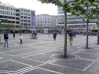 Konstablerwache town square in Frankfurt, Germany