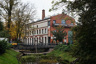 Konstancin-Jeziorna - Old paper mill and shops