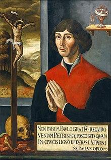 Ausschnitt aus dem Kopernikus-Epitaph der Kirche St. Johann in Thorn (Toruń) (Quelle: Wikimedia)