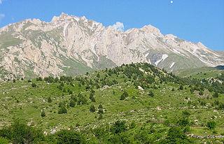 Korab Mountain range in Albania and North Macedonia