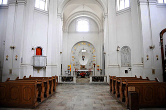 St. Kazimierz Church - General view of interior.