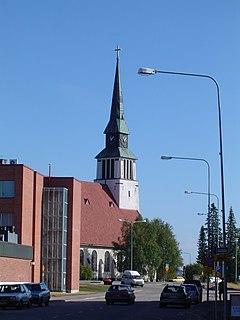Kemijärvi Town in Lapland, Finland