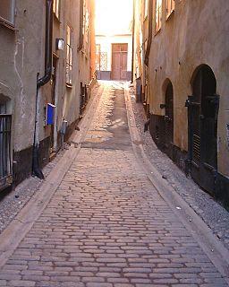 Kråkgränd alley in Gamla stan, Stockholm, Sweden