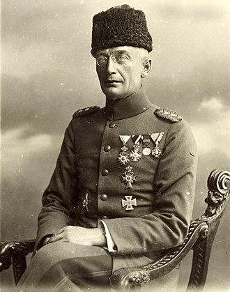 Third Battle of Gaza - Commander of the Ottoman Eighth Army, General Kress von Kressenstein