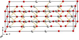 Kristallstruktur von Bismuttellurid