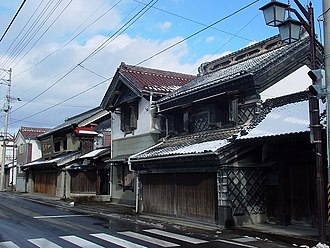 Groups of Traditional Buildings - Image: Kuranomatunami