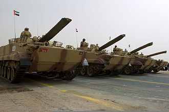 BMP-3 - A row of Emirati BMP-3 armoured vehicles during a parade