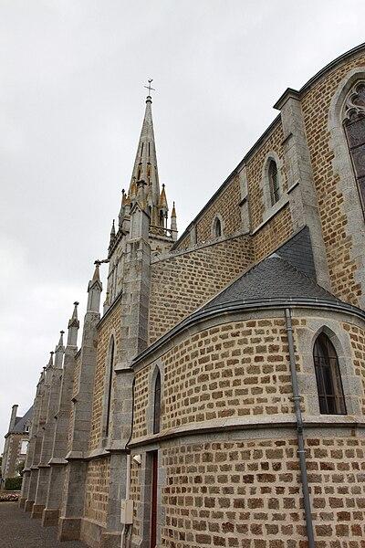 L'église de Buais dans la Manche.