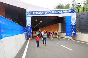 Legacy Way - The entrance of Legacy way in the inauguration day
