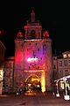 La Tour de la Grosse Horloge illuminée, Noël 2009 (5).JPG