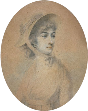 "Frances Nelson - Miniature of Frances ""Fanny"" Nelson, watercolour on paper, painted in 1798 by Daniel Orme, the year of her husband's victory at the Nile"