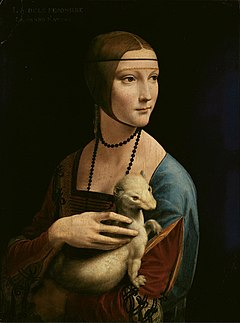 Lady with an Ermine - Leonardo da Vinci (adjusted levels).jpg