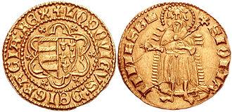 Hungarian forint - Image: Lajos I florint 768761