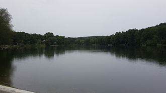 Neepaulakating Creek - Image: Lake Neepaulin seen from dam Wantage Twsp NJ