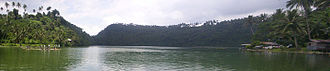 Lakes Pandin and Yambo - A panoramic view of the lake
