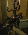 Lampett på räcke i stora trappan, vestibulen - Hallwylska museet - 30877.tif