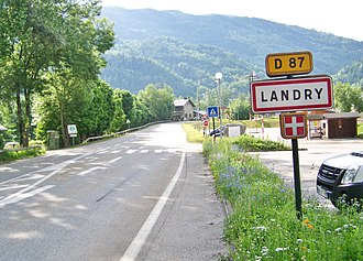 Landry, Savoie - The road into Landry