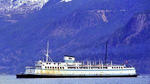 SS Asbury Park - The Langdale Queen in service with BC Ferries, c. 1975
