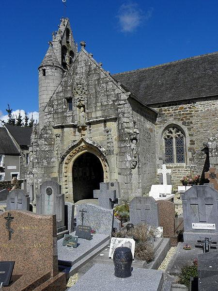Église Saint-Loup de Lanloup (22). Porche sud.