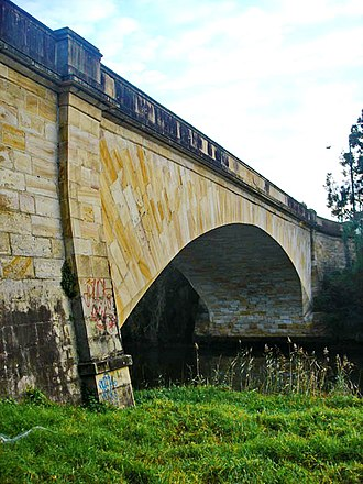 David Lennox - Lansdowne Bridge over Prospect Creek on the Hume Highway at Lansdowne. Opened in 1836, it carries traffic to this day.