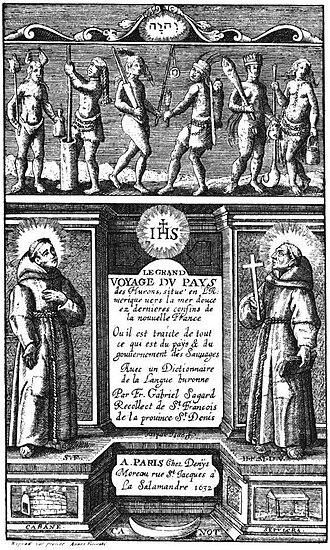 Religion in Canada - Le Grand Voyage du Pays des Hurons, Gabriel Sagard, 1632.