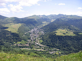 Mont-Dore with the Puy de Sancy in the background