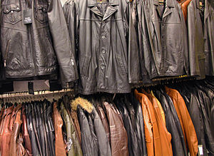 English: Leather jackets