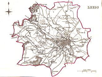 Leeds (UK Parliament constituency) - Image: Leeds Parliamentary Borough 1832