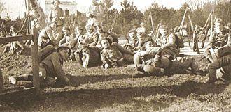 Polish–Czechoslovak War - Czechoslovak legionaries from France in Cieszyn Silesia